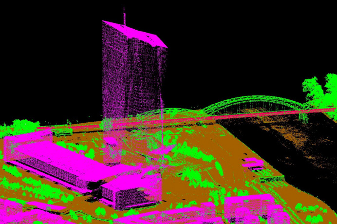 3D-Map - Airborne Laserscanning Frankfurt am Main